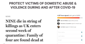 PROTECT VICTIMS OF DOMESTIC ABUSE & VIOLENCE DURING AND AFTER COVID-19